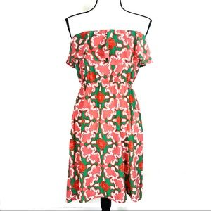 Tip Top Boutique floral Strapless Ruffle Dress
